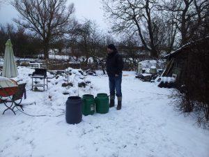 Das Braukombinat lässt sich vom Schnee nicht abschrecken