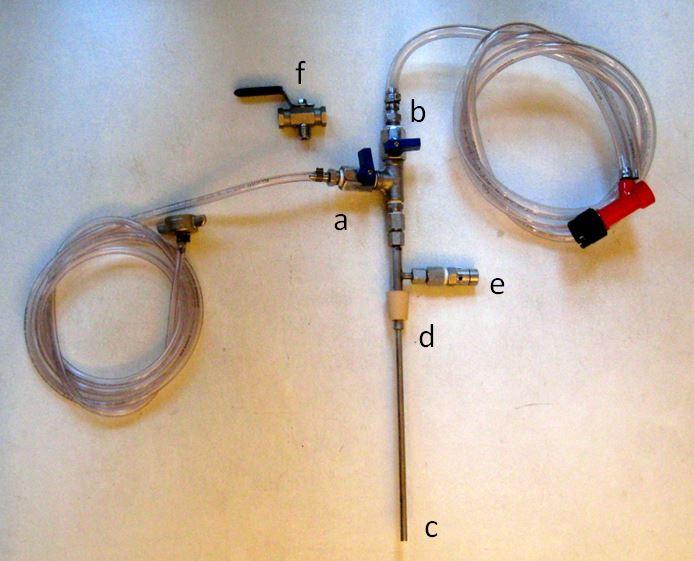 Bild 8: Einfacher manueller Gegendruck-Flaschenfüller