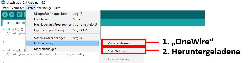 Bibliotken hinzufügen