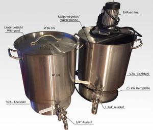Abb.13: Metzler Brauanlage 30 Liter