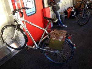 Mein Rad im Fahrradabteil nach Basel