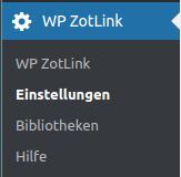Das zotLink-Menue
