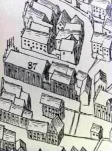 Ausschnitt aus einer Stadtansicht von Münster